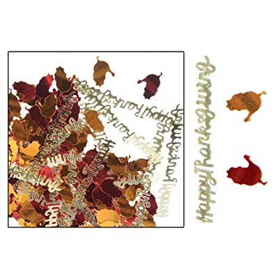 Beistle Happy Thanksgiving Confetti: Toys & Games