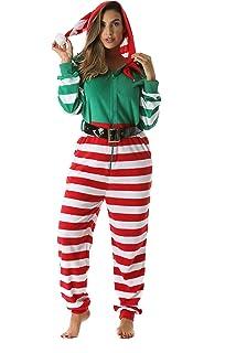e8e7b29271  followme Adult Christmas Onesie for Women Jumpsuit One-Piece Pajamas