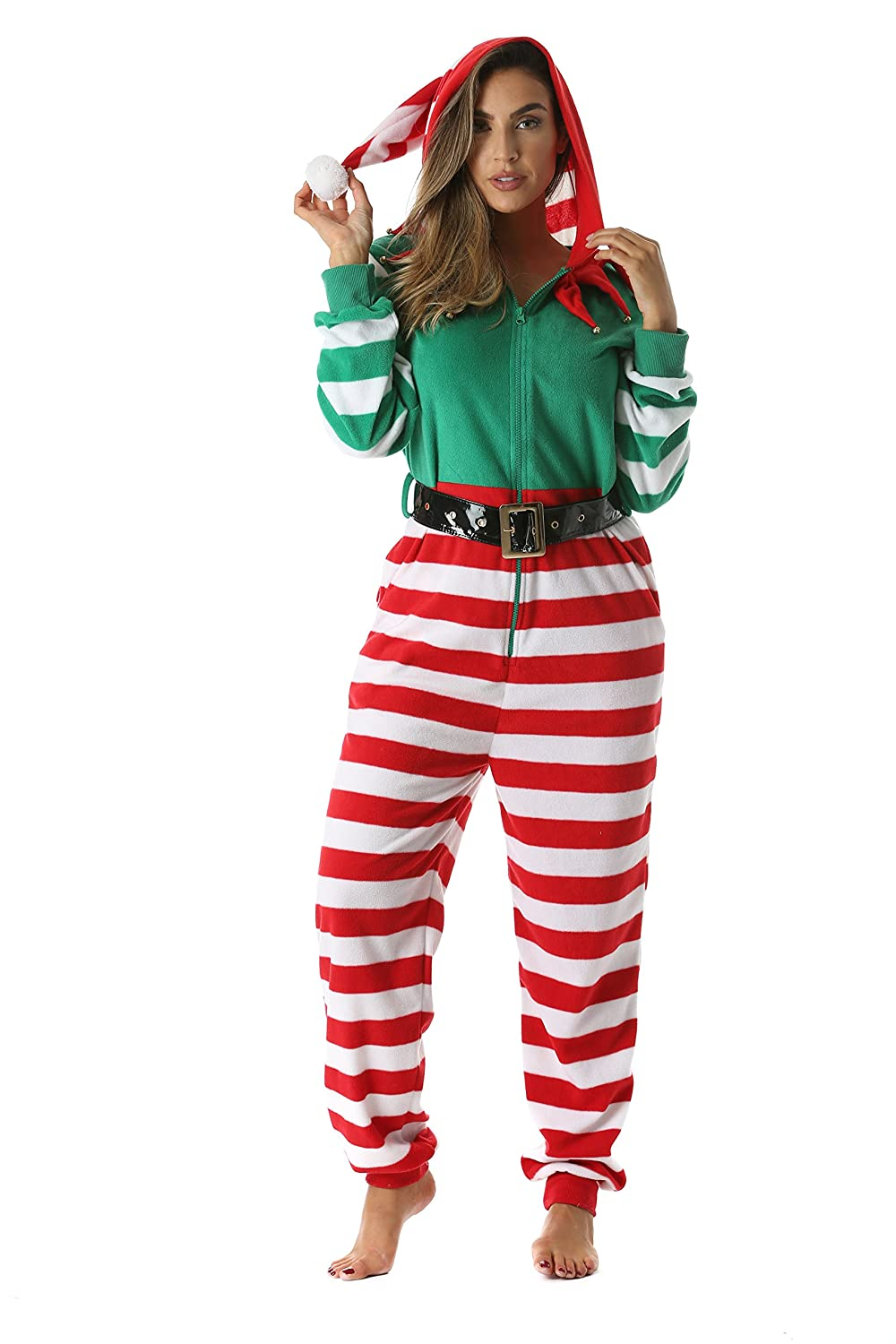 aaaaf506b87a followme Adult Christmas Onesie for Women Jumpsuit One-Piece Pajamas ...