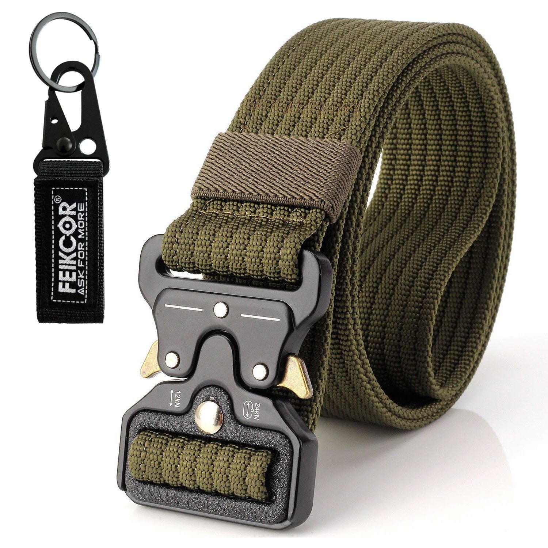 Tactical Belt Military Style Heavy Duty Belt Tactical Sports Belts (Khaki) FEIKCOR mmm