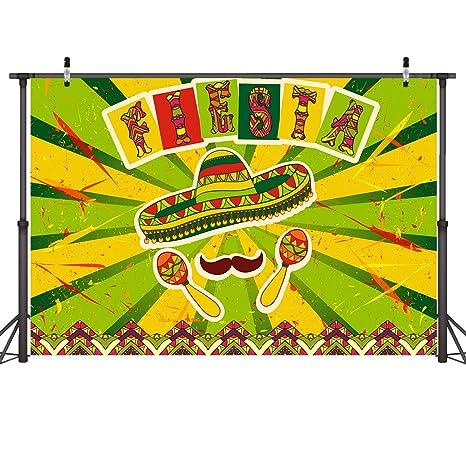 amazon com mehofoto fiesta theme backdrop mexican dress up party