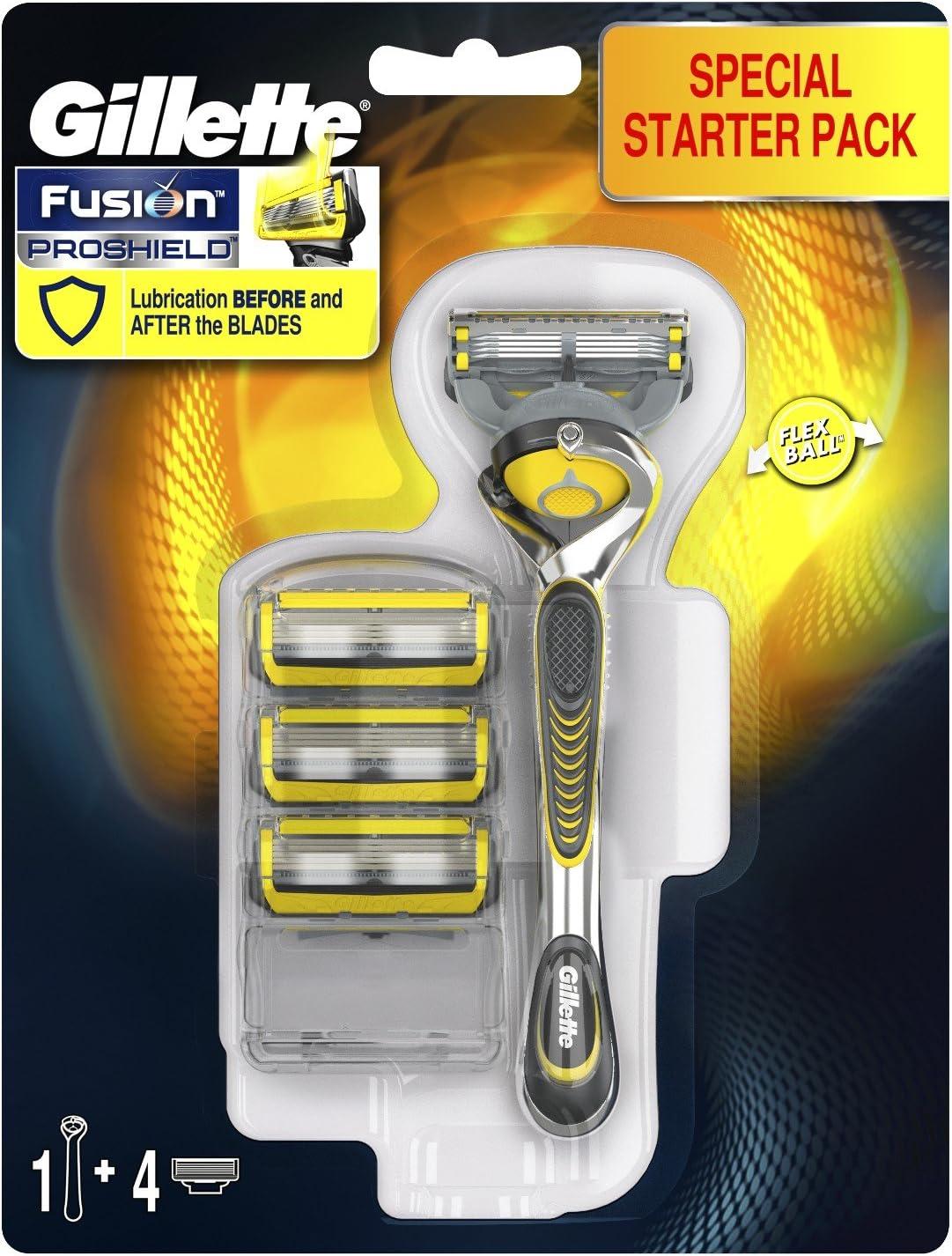 Gillette Fusion Proshield Flexball Kit de Afeitar para Hombre, Maquinilla + 3 Cuchillas de Recambio: Amazon.es: Salud y cuidado personal