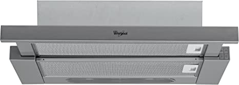Whirlpool AKR 749 IX Telescópica o extraplana Acero inoxidable 371m³/h E - Campana (371 m³/h, Canalizado/Recirculación, 180 m³/h, 65 dB, 60 cm, 70 cm): Amazon.es: Grandes electrodomésticos