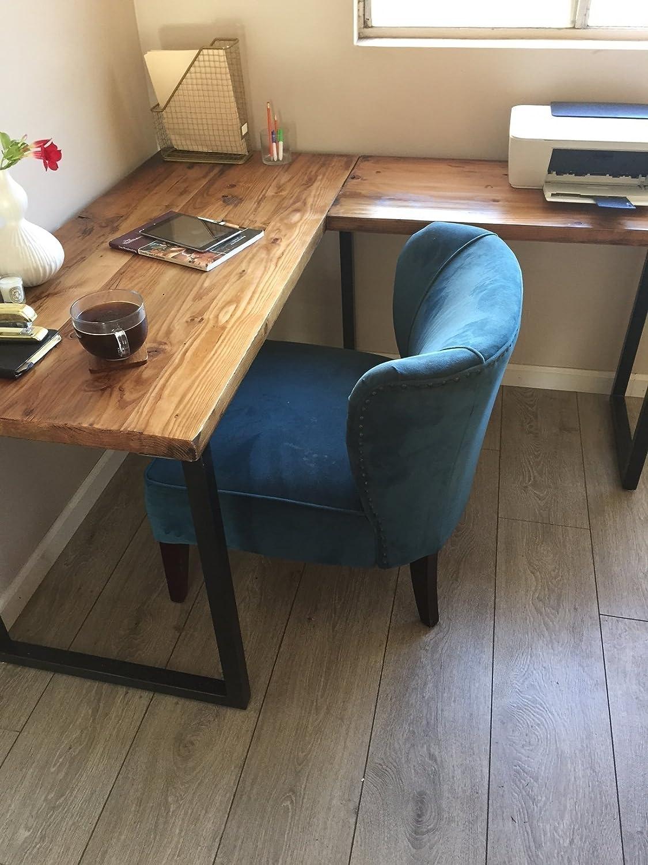- Amazon.com: L Shaped Desk - Reclaimed Wood With Metal Base: Handmade