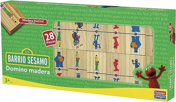 Falomir Barrio Sésamo - Domino de Madera 23022: Amazon.es: Juguetes y juegos