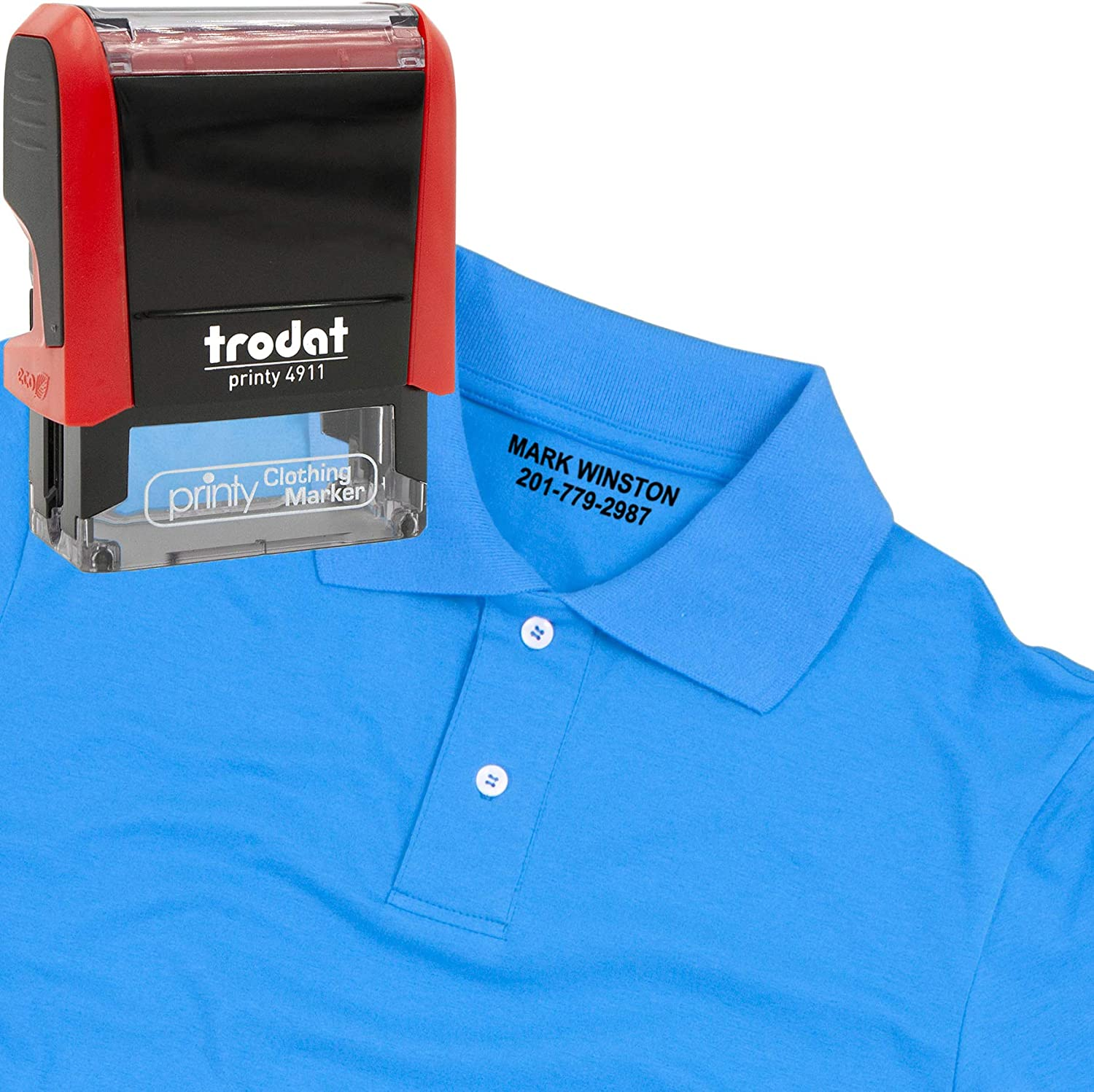 Customize Online Personalized with Your Name Trodat Clothing Stamp
