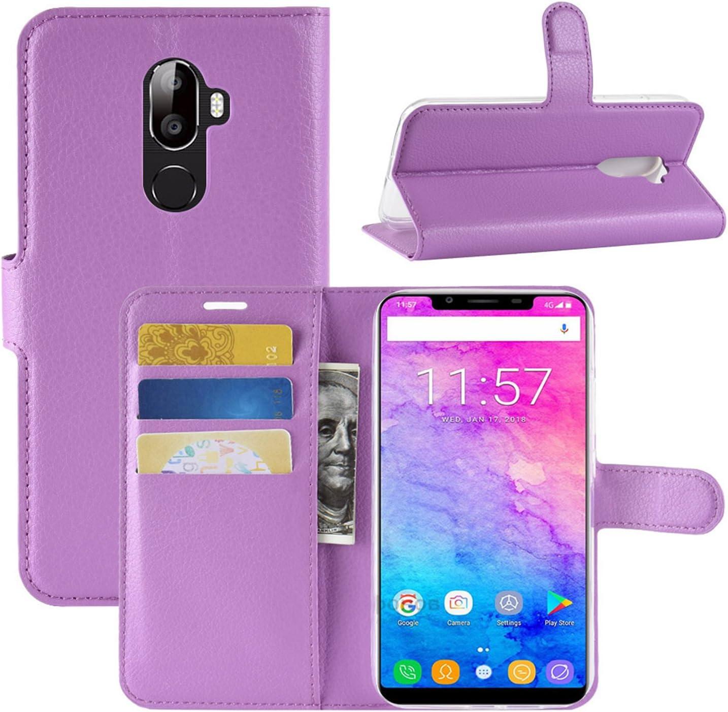 HualuBro Funda OUKITEL K5000, Premium PU Cuero Leather Billetera Wallet Carcasa Flip Case Cover para Oukitel K5000 Smartphone (Morado): Amazon.es: Electrónica