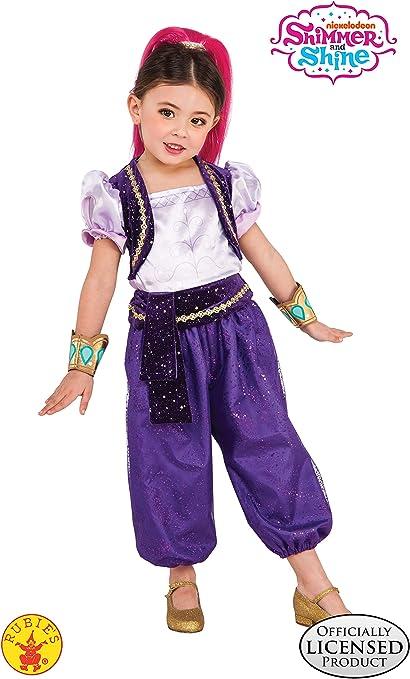 Shimmer & Shine - Disfraz Deluxe violeta para niña, infantil S (3 ...
