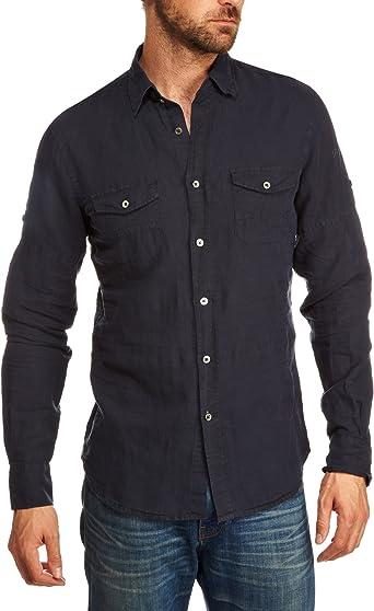 GAS Vaquero DAB 1754 – Camisa para hombre Azul Deep Night Medium: Amazon.es: Ropa y accesorios