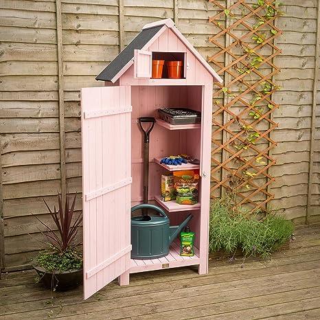 Cobertizo para jardín de madera, estilo de caja de garita para almacenamiento,