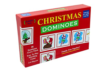 christmas dominoes a fun christmas party game the original and classic christmas dominoes game - Fun Christmas Party Games