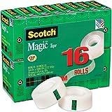 3M Scotch Magic Tape, 3/4 x 1000 Inches, Boxed, 16 Rolls (810K16)