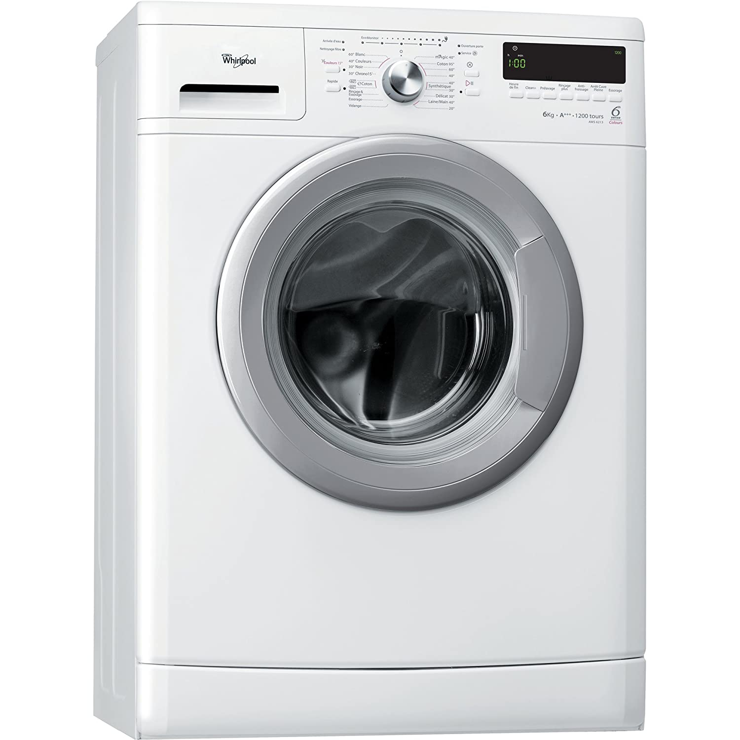 Whirlpool AWS 6213 Independiente Carga frontal 6kg 1200RPM A+++ ...
