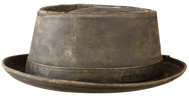 Stetson Odenton Distressed Cotton Pork Pie Hat - UPF 40+