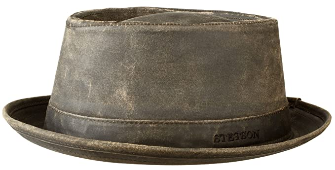 14c4d23cb7b884 Stetson Odenton Distressed Cotton Pork Pie Hat - UPF 40+ at Amazon ...