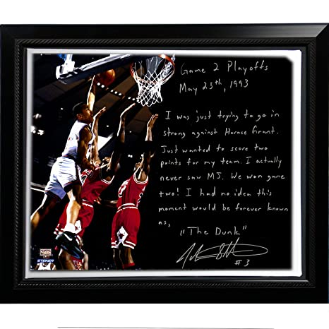 Steiner NBA New York Knicks Enmarcado 22 X 26 John Starks facsímil ...