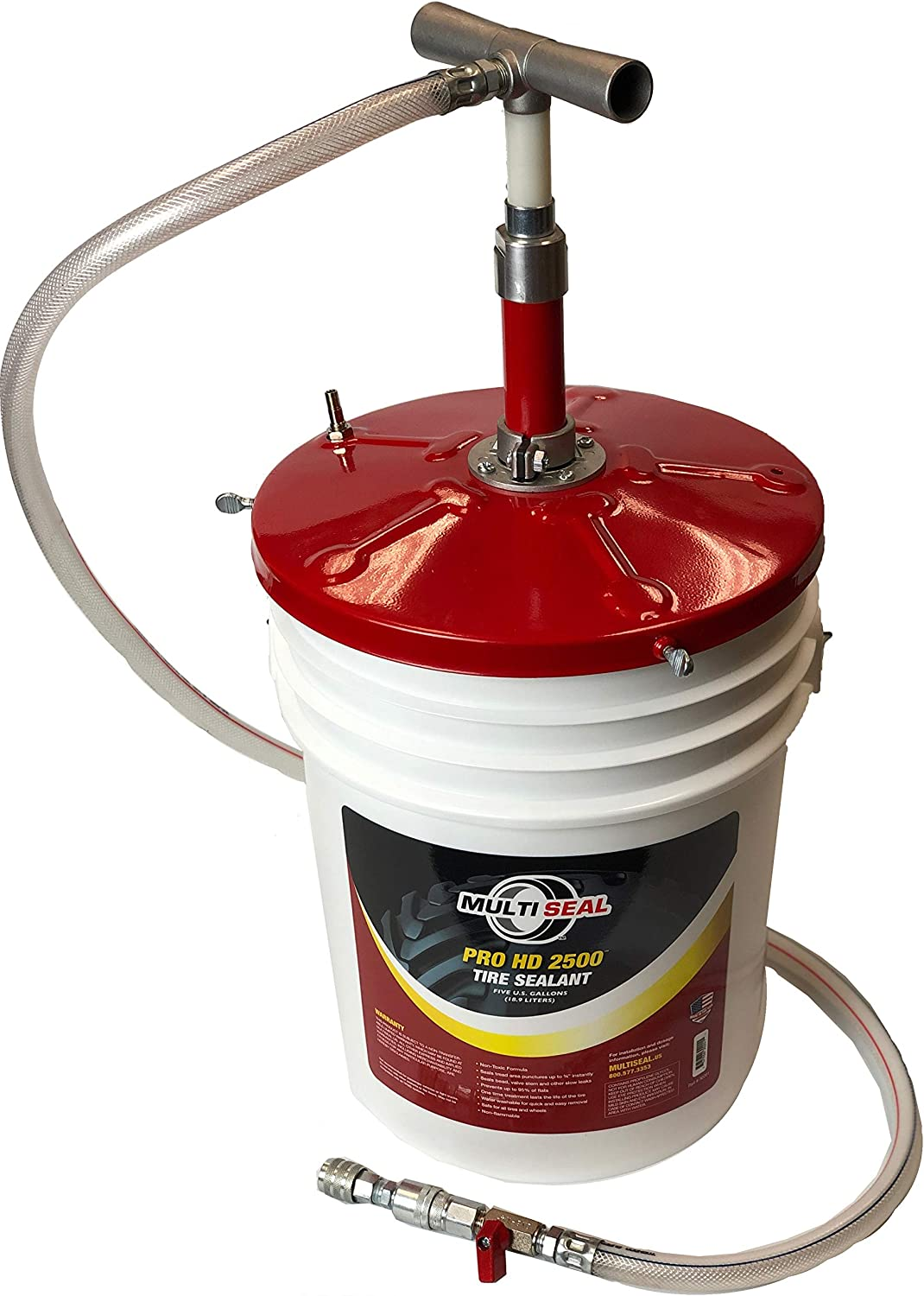 Tire Repair Kits MULTI SEAL 90030 Universal Pail Pump with in-Line ...