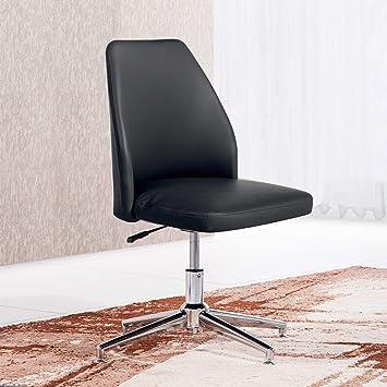 Butaca - Silla de escritorio para despacho modelo MIKE base fija color negro – Sedutahome