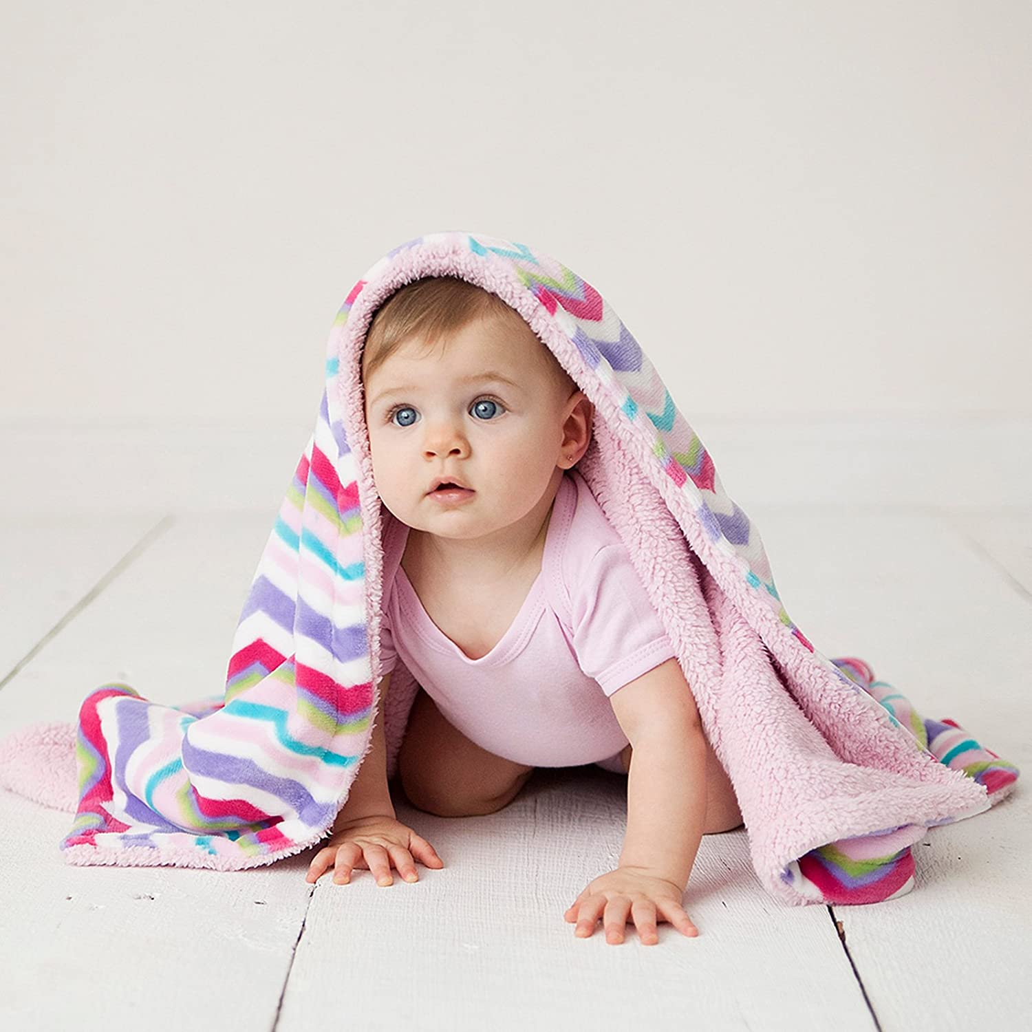 Girl Woodland One Size Hudson Baby Double Layer Blanket