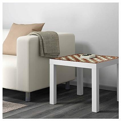 Metacrilato para Mesa IKEA Lack Personalizada Tablero Ajedrez Antiguo imitación Madera | Medidas 0,55