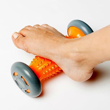 Rodillo para pies – Masajeador para fascitis plantar y para el dolor del puente del pie y el talón – Relajación con terapia de punto de activación – ...