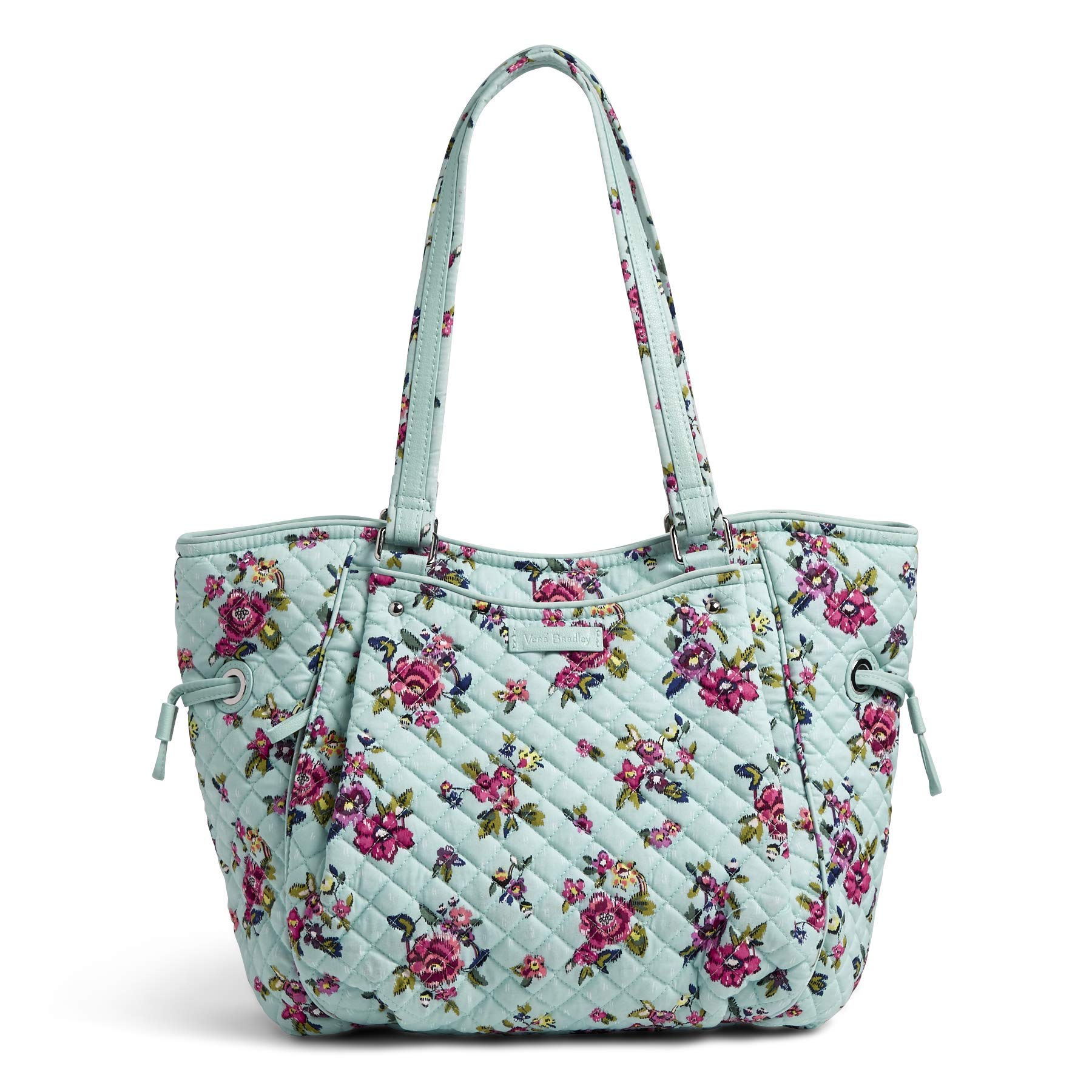 Vera Bradley Iconic Glenna Satchel, Signature Cotton, Water Bouquet