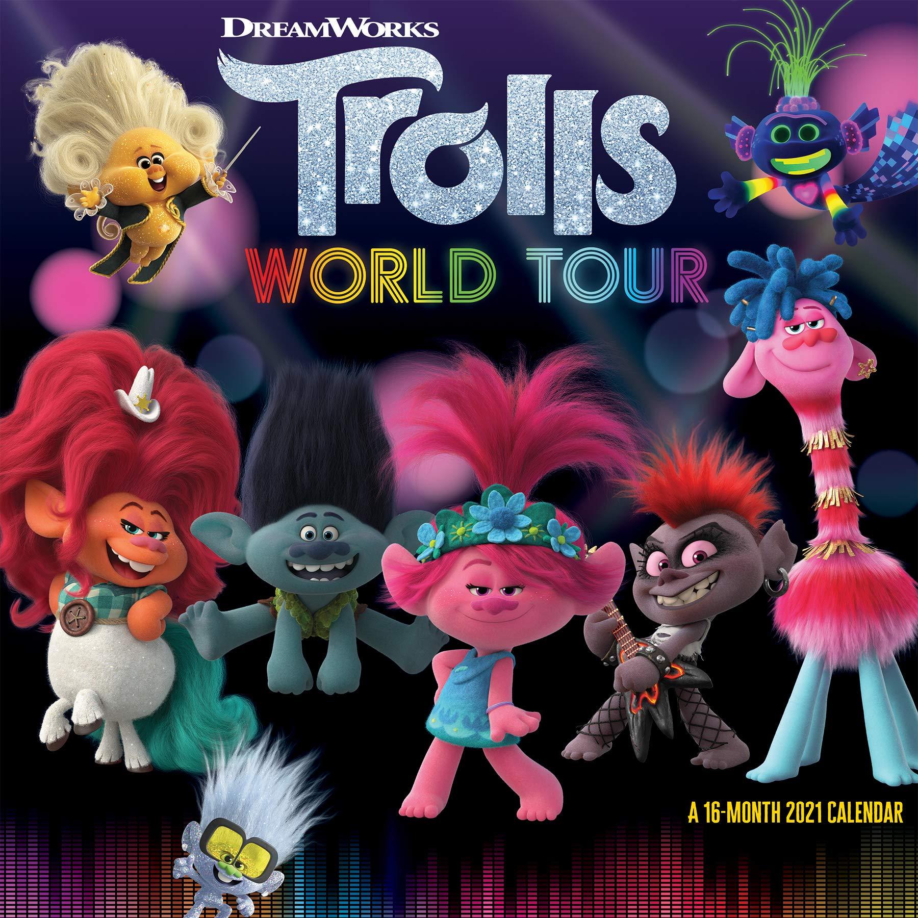 Amazon.com: 2021 Trolls World Tour Wall Calendar (0057668213419