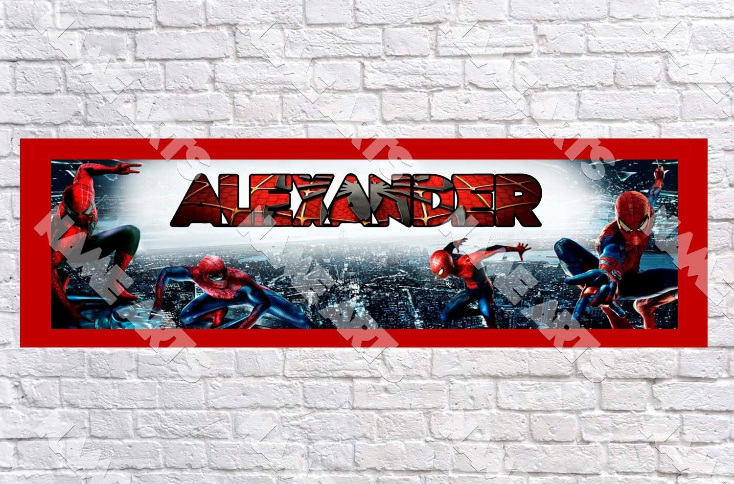 Personalised Spiderman Banners Option 2  • 3 for price of 2 • 5 for price of 3