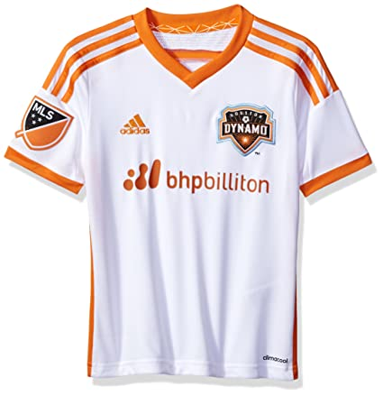 MLS Houston Dynamo Boys Youth Replica S/S Jersey, Small, White