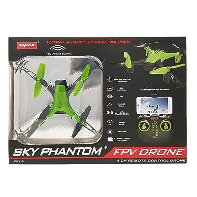 Phantom Sky WiFi FPV Drone-Green: Toys & Games