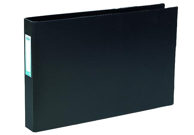 Elba - Archivador rectangular con 4 anillas en D (A3, lomo 30 mm, PVC), color negro: Amazon.es: Oficina y papelería