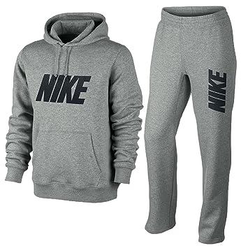 purchase cheap 92b8a 9472b Nike - Ensemble survêtement pantalon + sweat capuche gris polaire - Gris,  L, 78