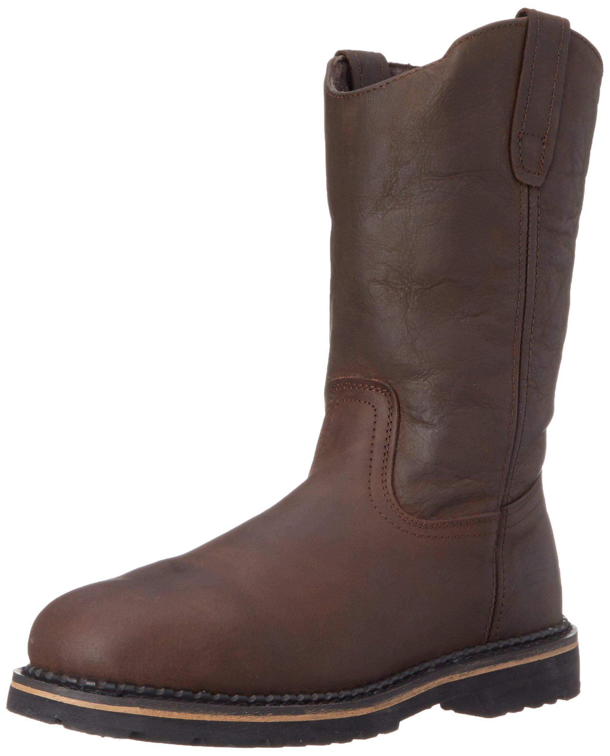 McRae Industrial Men's 11'' Wellington Boots, Dark Brown, 15 2E