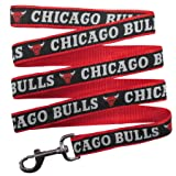 NBA CHICAGO BULLS Dog Leash, Size Small. Heavy-Duty