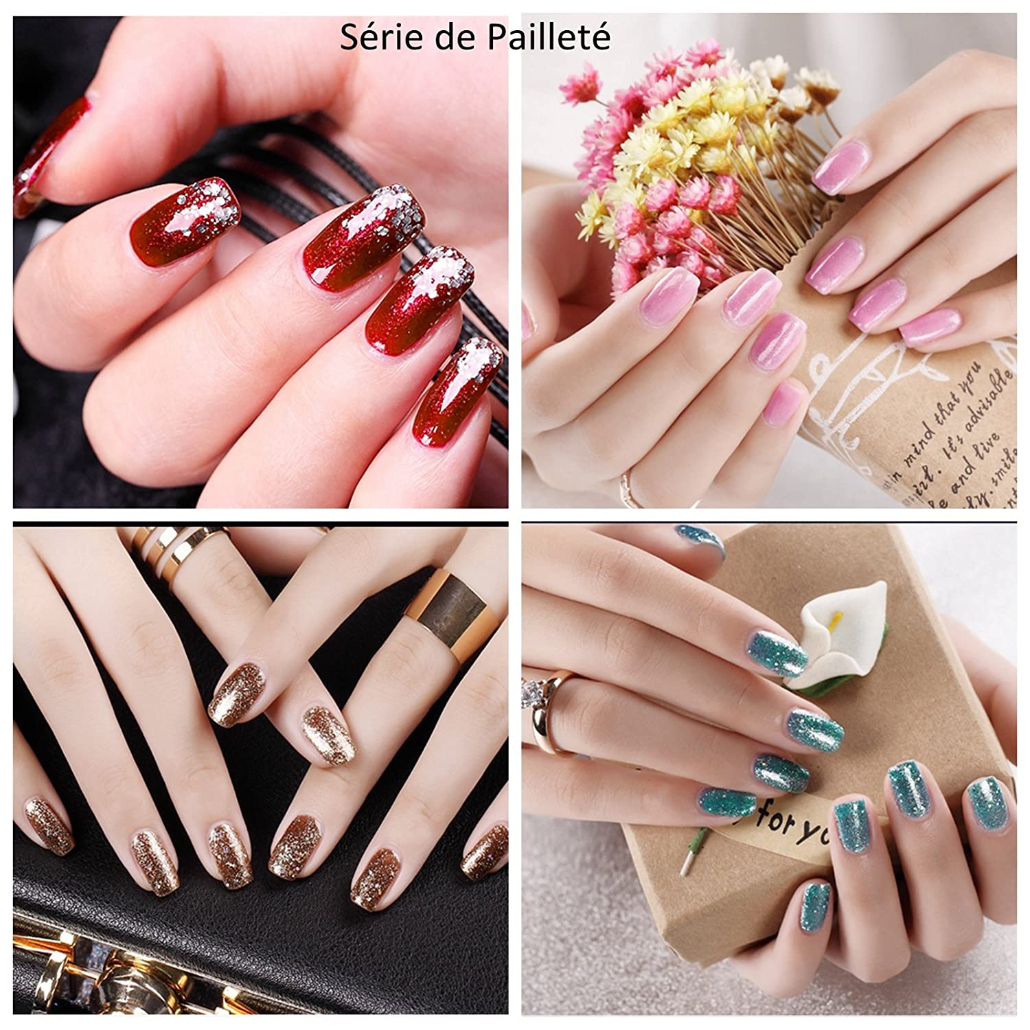 Perfect Summer - Lote de esmalte de uñas de gel semipermanente, Soak Off UV LED Gel Nail para manicura: Amazon.es: Belleza