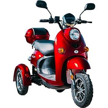NUEVO Scooter Eléctrico de 3 Ruedas, Scooter Electrico Minusvalido, Moto Para Personas Mayores, Vehículo De Movilidad ZT-63 650W (Blanco): Amazon.es: Salud ...