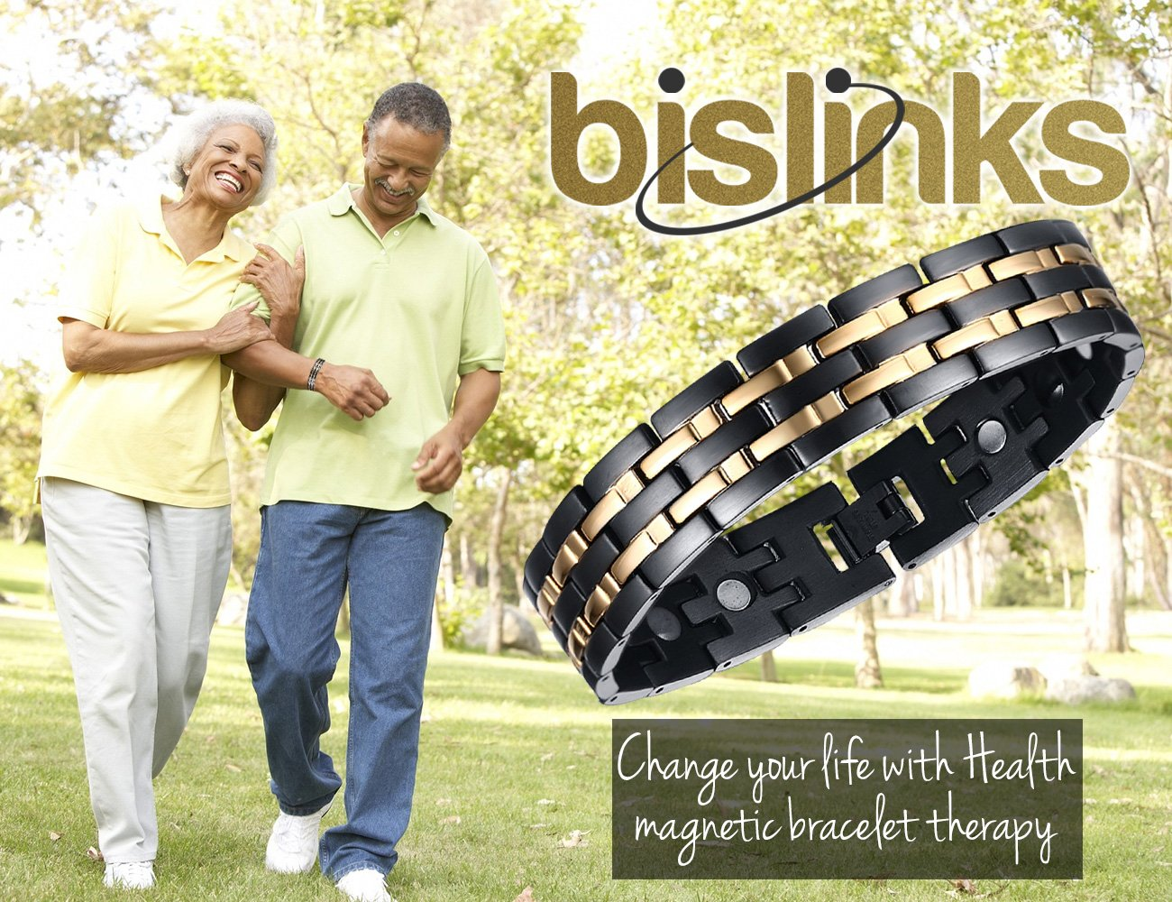 BisLinks® Titanium Magnetic Health Bracelet For Men & Women Germanium Stone Arthritis Chronic Pain Bio Therapy Carpal Tunnel Relief Negative Ion (3000 Gauss Each Magnet) + FREE LINK REMOVAL TOOL by BisLinks® (Image #8)