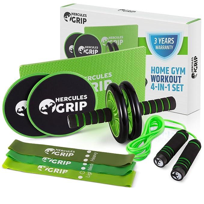 Equipo de gimnasio HerculesGrip para casa | 4 en 1 fuerza ...