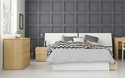 Amazon.com: Ogilvi 4 Piece Full Size Bedroom Set, Natural ...