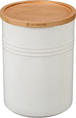Le Creuset Stoneware Canister with Wood Lid