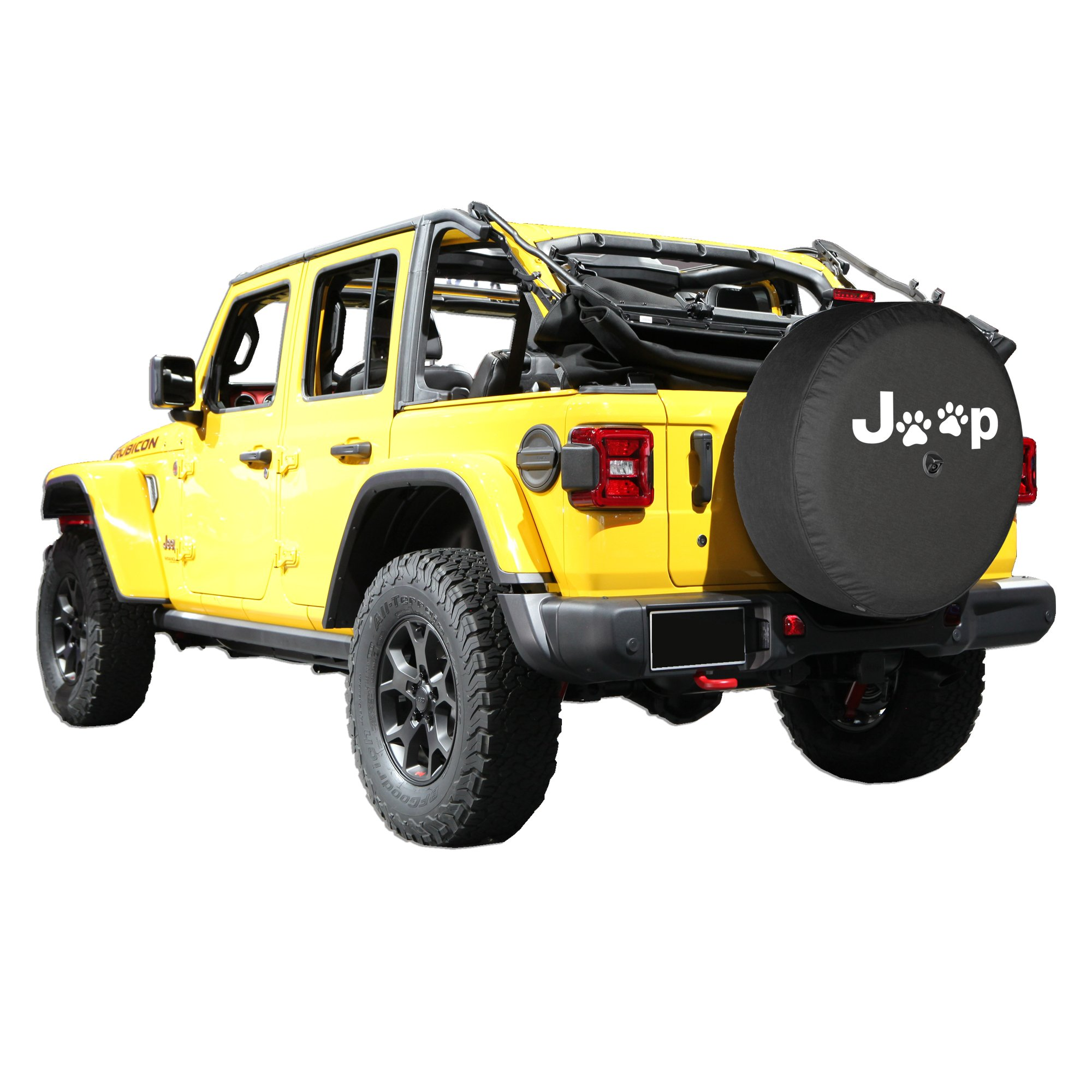 Boomerang 2018 Jeep Wrangler Rubicon JL & JLU - 33'' Soft Tire Cover - Jeep Paws by Boomerang (Image #4)
