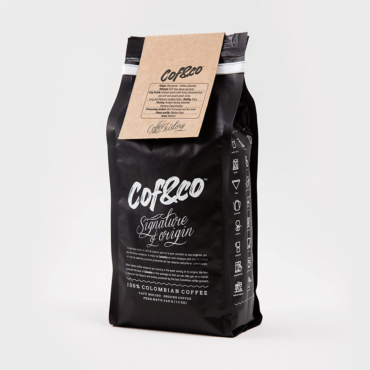 Amazon.com : Cof&Co Colombian Single Origin Ground Coffee 12 Oz. : Grocery & Gourmet Food