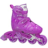 Roller Derby Tracer Girls Adjustable Inline Medium, 2-5