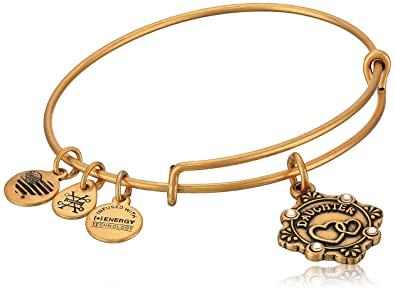 d70935956f91b3 Amazon.com: Alex and Ani Womens Because I Love You, Daughter Charm Bangle  Bracelet, Rafaelian Gold, Expandable: Jewelry