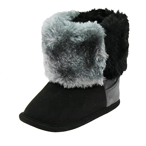 3f54d72afac75 First Steps Faux Suede Baby Boots with Furry Top