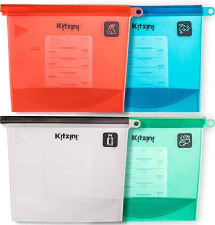 071dec06748 Reusable Food Bags - More Convenient and Cost Effective Than Plastic - 1  Litre Silicone Storage