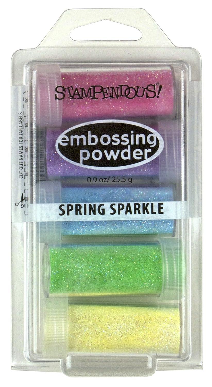 Stampendous Embossing Powder .9Oz Spring Sparkle, Acrylic, Multicolour EK20
