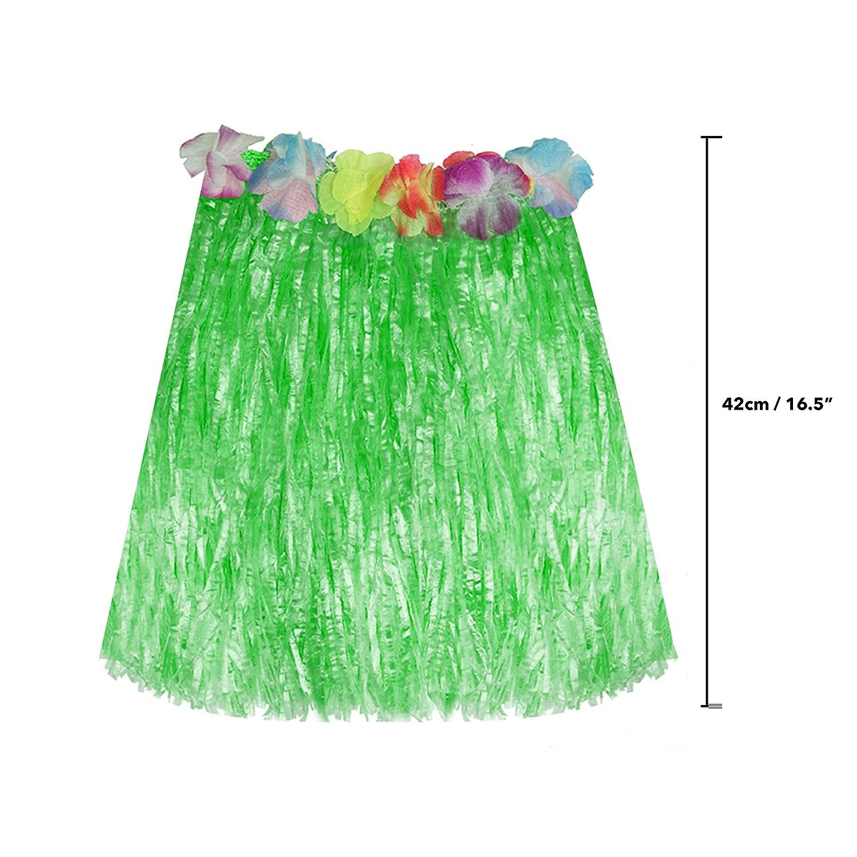 Falda Hawaiana (Paquete de 6) - 42 cm (16.5
