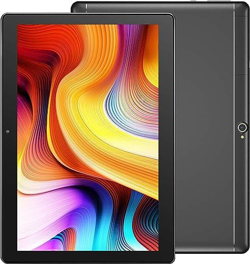 Dragon Touch Notepad K10 Tablet, Tablet Android da 10 pollici con 2 GB di RAM da 32 GB, processore quad-core, display HD 10.1 IPS, micro HDMI, Android 9.0 e WiFi 5G Corpo in metallo nero