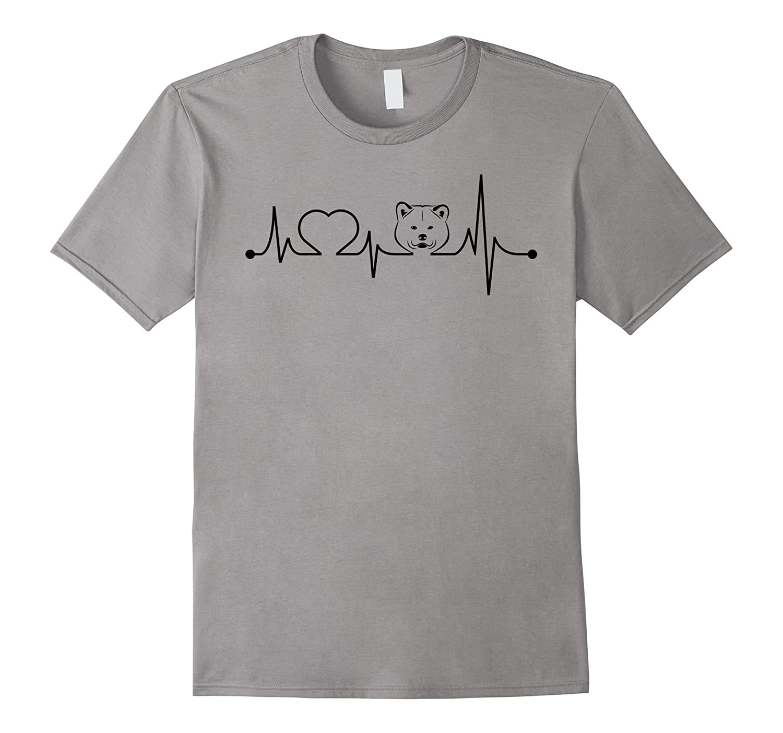 Akita Heartbeat T shirt-TH